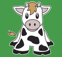 cute cow One Piece - Short Sleeve