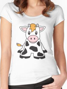 cute cow Women's Fitted Scoop T-Shirt