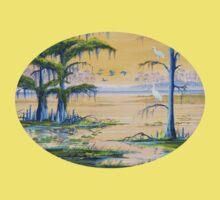 Ibis At The Everglades - Misty Sunrise Kids Tee