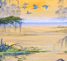 Ibis At The Everglades - Misty Sunrise Sticker