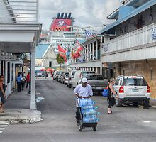 Frederick Street in Downtown Nassau, The Bahamas by 242Digital