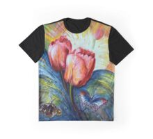 Tulips and butterfly Graphic T-Shirt
