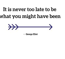 It is never too late to be what you might have been by IdeasForArtists