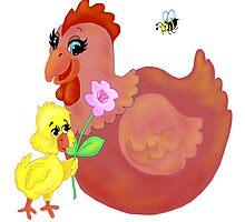 hen & chick by redqueenself