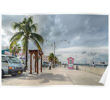 Woodes Rodgers Walk in Downtown Nassau, The Bahamas Poster