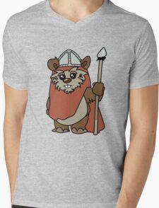 Shakespearean Star Wars: Ewok Knight Mens V-Neck T-Shirt