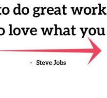 The only way to do great work is to love what you do Sticker