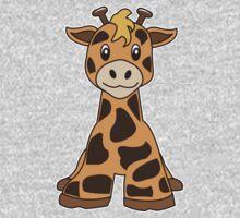 giraffe cute animal Kids Tee