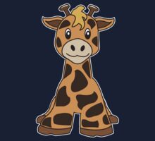 giraffe cute animal One Piece - Long Sleeve