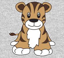 tiger cute animal One Piece - Short Sleeve