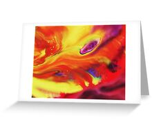 Vibrant Sensation Vivid Abstract IV Greeting Card
