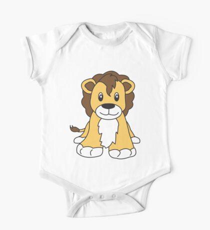 lion cute animal One Piece - Short Sleeve