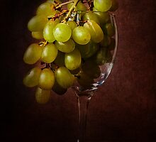 Grapes in Glass by Ellesscee