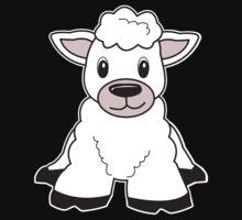 sheep cute animal One Piece - Short Sleeve