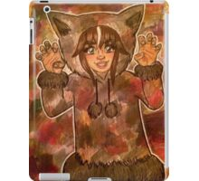 The wolf is a master of camouflage iPad Case/Skin