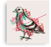 Party Pigeon Canvas Print