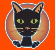 black cat Kids Tee