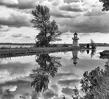 Upper Canada Village Lighthouse by Eunice Gibb