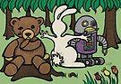 Teddy Bear And Bunny - An Eye For An Eye by Brett Gilbert