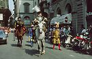 Gentleman on horseback, C16 Costume Parade Florence Italy 19840708 0034 by Fred Mitchell
