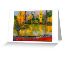 The colours of autumn, Malmsbury VIC Australia Greeting Card