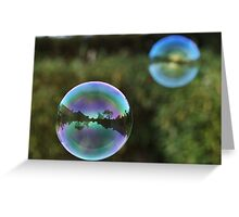Reflection, bubble Greeting Card