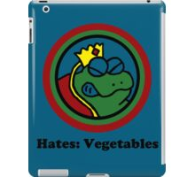 Hates: Vegetables iPad Case/Skin