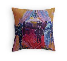 A living space, my version, watercolor Throw Pillow