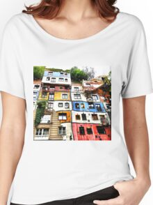 Hundertwasser House Women's Relaxed Fit T-Shirt