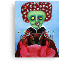 Iracebeth of Crims - Red Queen - A Warm Pig Belly Canvas Print