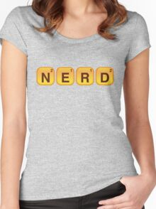 Words With NERD Women's Fitted Scoop T-Shirt