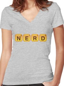 Words With NERD Women's Fitted V-Neck T-Shirt