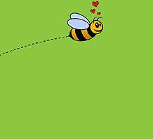 A Bee in Love by Jeffery Borchert