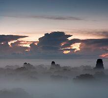 Tikal in the morning mist by Brendon Doran