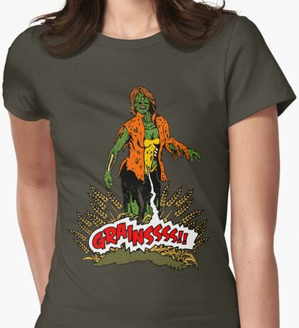Zombie Vegan Womens Fitted T-Shirt