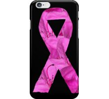 Pink Azalea Flowers Awareness Ribbon iPhone Case/Skin