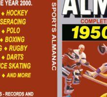 BTTF GREYS SPORTS ALMANAC Sticker