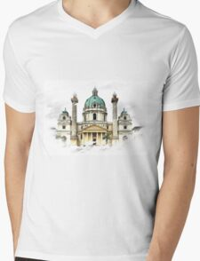 Karls-Church in Vienna Mens V-Neck T-Shirt