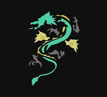 Dragon, oh beautiful Dragon Women's Fitted V-Neck T-Shirt