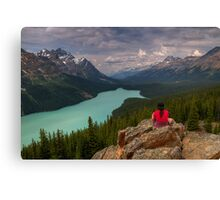 Peyto Solitude Canvas Print