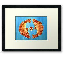 Yin And Yang Goldfish Framed Print
