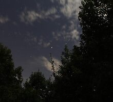 Night Sky Over Camp by David Misko