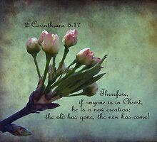 2 Corinthians 5:17 Greeting Card by Susan S. Kline