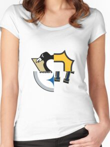 Pittsburgh Team Quarters Women's Fitted Scoop T-Shirt