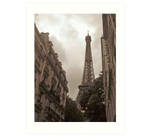 Eiffel Tower in Neighborhood Art Print