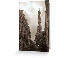 Eiffel Tower in Neighborhood Greeting Card