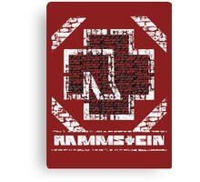 Rammstein - Steinmauer Canvas Print