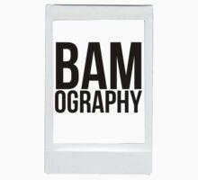 BAMography logo in border (large logo) Baby Tee