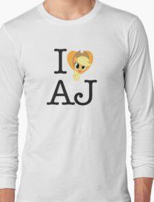 I <3 Applejack Long Sleeve T-Shirt