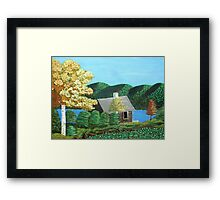 Cottage At The Lake Framed Print